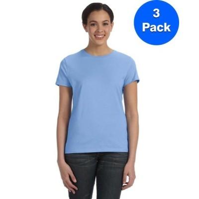レディース 衣類 トップス Womens 100% Ringspun Cotton nano-T T-Shirt SL04 (3 PACK) Tシャツ