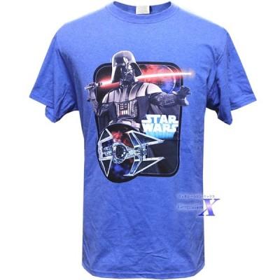 映画  スターウォーズ 米国公式メンズ Tシャツ(ダースベーダーin ブルー)Star Wars スカイウォーカー