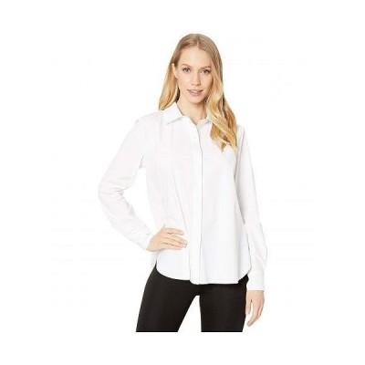Lysse リセ レディース 女性用 ファッション ボタンシャツ Connie Slim Fit Stretch Microfiber Button-Down Shirt - White