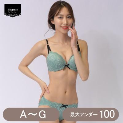 花柄レースブラ&ショーツセット(エレガンテ/Elegante)