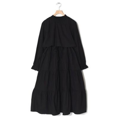 【ダブルクローゼット】 ティアードワンピース レディース ブラック FREE w closet