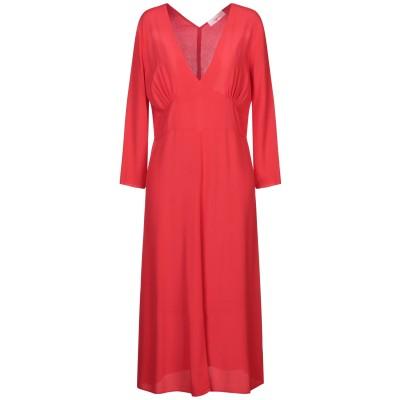 ジャッカ JUCCA 7分丈ワンピース・ドレス レッド 40 レーヨン 100% 7分丈ワンピース・ドレス