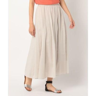 スカート マキシギャザースカート