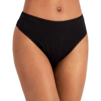 チャータークラブ Charter Club レディース ショーツのみ インナー・下着 Cotton High-Cut Brief Underwear Classic Black