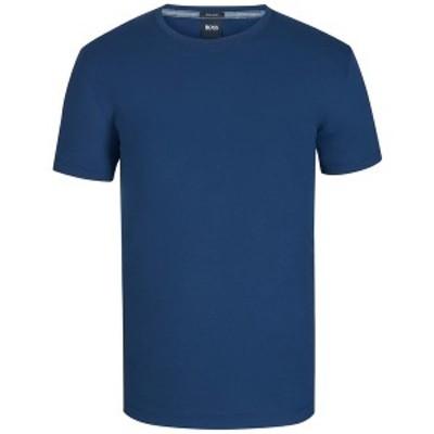 ヒューゴボス メンズ Tシャツ トップス BOSS Men's Regular/Classic-Fit Cotton T-Shirt Navy