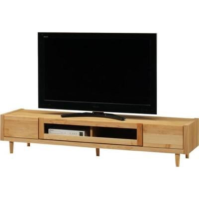 テレビ台 テレビボード ローボード 幅180 高さ37 アルダー 無垢 天然木 エコ塗装 カントリー調 脚付き 国産 完成品