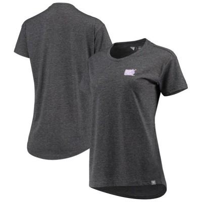 レベルウェア レディース Tシャツ トップス Levelwear Women's Hockey Fights Cancer Purweld Teagan T-Shirt