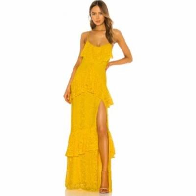 マイケル コステロ Michael Costello レディース パーティードレス ワンピース・ドレス x REVOLVE Justine Gown Yellow