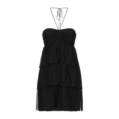 SAINT LAURENT ミニワンピース&ドレス ブラック 38 シルク 100% / 金属 ミニワンピース&ドレス
