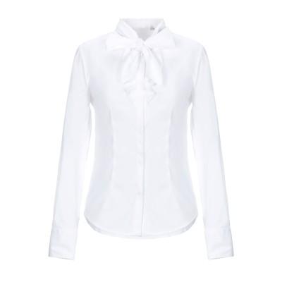 CAMICETTASNOB シャツ ホワイト 46 コットン 75% / ナイロン 23% / ポリウレタン 2% シャツ