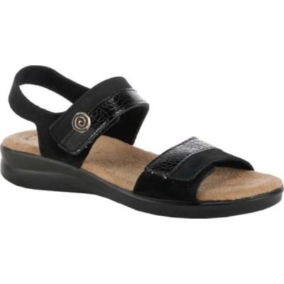 フレクサス サンダル シューズ レディース Alonsa Wedge Sandal (Women's) Black Nubuck Leather