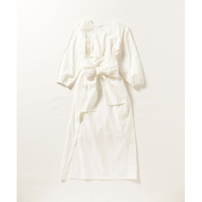 SHIPS for women/シップスウィメン CASA FLINE:ワインディングシャツワンピース オフホワイト ONE SIZE