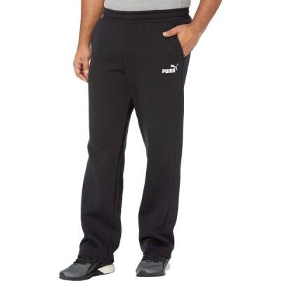 プーマ PUMA メンズ ボトムス・パンツ 大きいサイズ Big & Tall Essential Logo Pants Fleece Open Bottoms Cotton Black