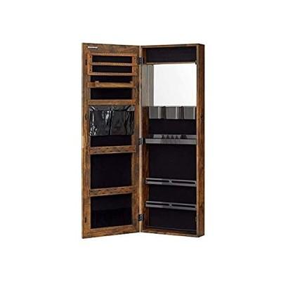 SONGMICS Lockable Jewelry Cabinet Armoire, Wall-Mounted Storage Organizer w