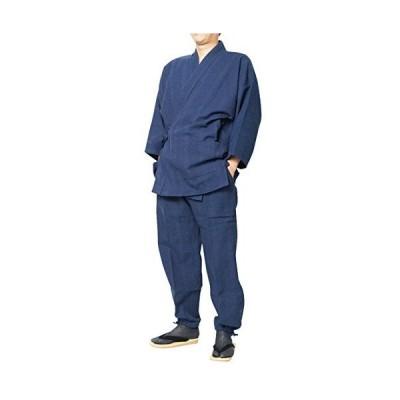 三子撚杢作務衣(さむえ) 日本製 (M, 14-ドビー紺)