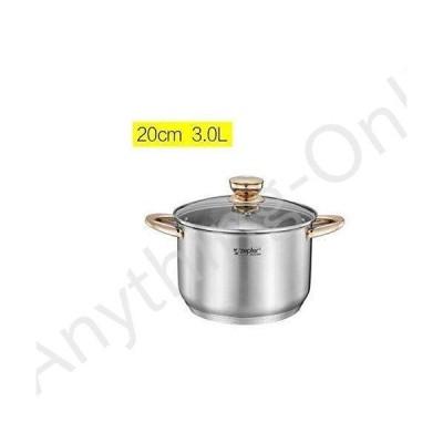 新品 HAYQ Cookware Set Soup Pot Stainless Steel stew Cooking Pots Induction Cooker Casserole Kitchen Saucepan Double Boiler Steamer (Col
