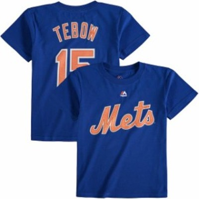 Majestic マジェスティック スポーツ用品  Majestic Tim Tebow New York Mets Toddler Royal Player Name and Number T-Shirt