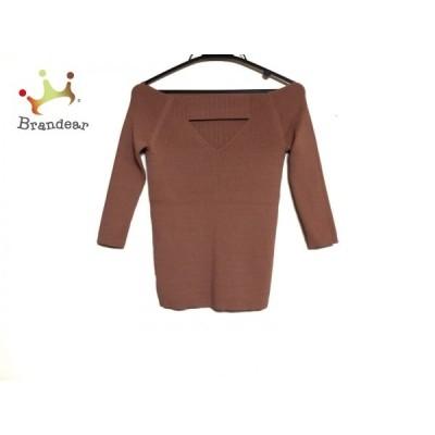 エレンディーク ELENDEEK 七分袖セーター レディース ライトブラウン  スペシャル特価 20200316