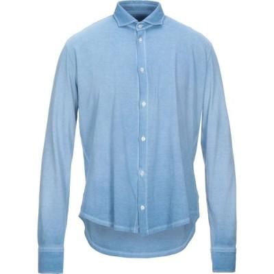 ブルックスフィールド BROOKSFIELD メンズ シャツ トップス solid color shirt Azure