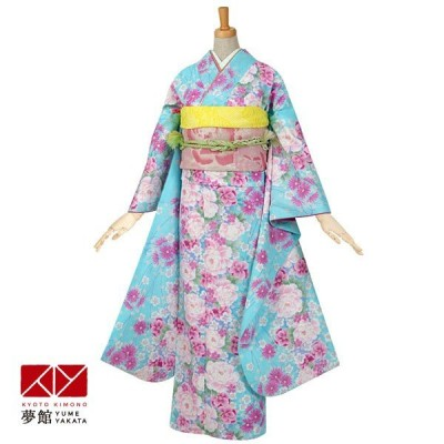 2〜11月利用 結婚式 振袖 レンタル 水色 牡丹に小桜 対応身長155〜164cm R507