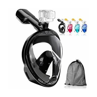 HEARTST シュノーケルマスク 新型フルフェイス型180°超広角 ダイビングマスクスポーツカメラ取付可能 シュノー