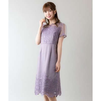 ドレス バックスピンドールレースタイトドレス(9R04-A1909)