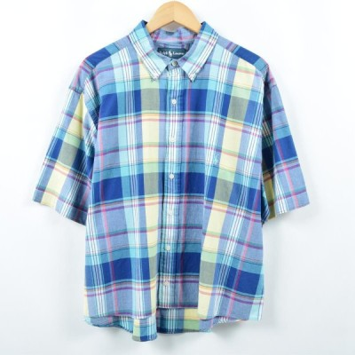 ラルフローレン 半袖 ボタンダウンチェックシャツ /eaa037211