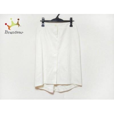バレンチノローマ VALENTINO ROMA スカート サイズ40 M レディース 美品 アイボリー  値下げ 20200626