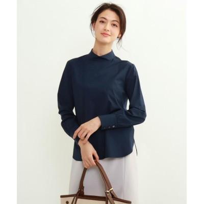 INDIVI(インディヴィ) 「S」コンパクトブロードスタンドカラーシャツ