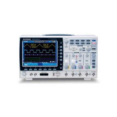 """GW Instek GDS-2204A 8"""" LCD Color Display Visual Persistence Digital Storage Oscilloscope with USB Port, 200MHz Bandwidth, 4-Channel, 1.75ns"""