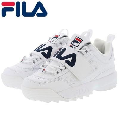 フィラ レディース スニーカー ディスラプター2 アップリケ 白色 FILA ホワイト F0498-0125