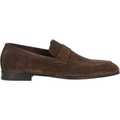 サントーニ SANTONI メンズ ローファー シューズ・靴 loafers Brown