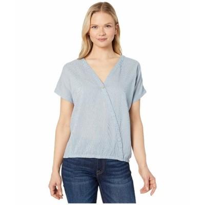 テンツリー シャツ トップス レディース Isa Woven Shirt OC Stripe/Riviera Blue/Elm White