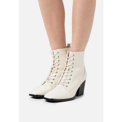 グラマラス レディース 靴 シューズ Lace-up ankle boots - bone