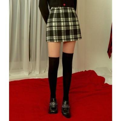 MIXXMIX レディース スカート HEART CLUBBlack Check Mini Skirt
