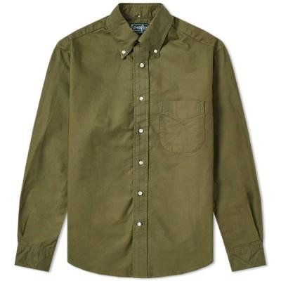 ギットマンヴィンテージ Gitman Vintage メンズ シャツ トップス Overdyed Oxford Shirt Olive