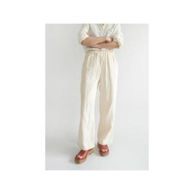 AFTERMONDAY レディース パンツ hard texture banding pants