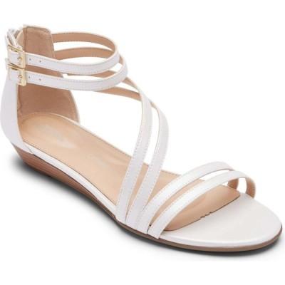ロックポート ROCKPORT レディース サンダル・ミュール ウェッジソール シューズ・靴 Total Motion Zandra Wedge Sandal White Leather