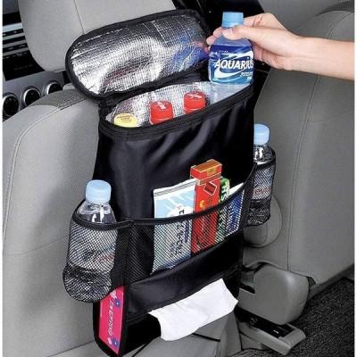 Autoark カーシート 後部座席用オーガナイザー マルチポケット付き 旅行用収納バッグ(保温仕様) 標準 ブラック 1 並行輸入品