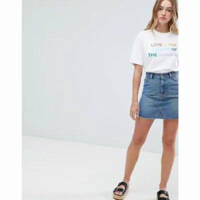 モンキー ミニスカート Denim Mini Skirt Black