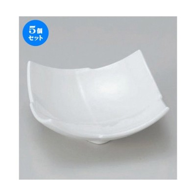 5個セット ☆ 組小鉢 ☆白四角3.5小鉢 [ 11.2 x 5.7cm 205g ] 【 料亭 旅館 和食器 飲食店 業務用 】