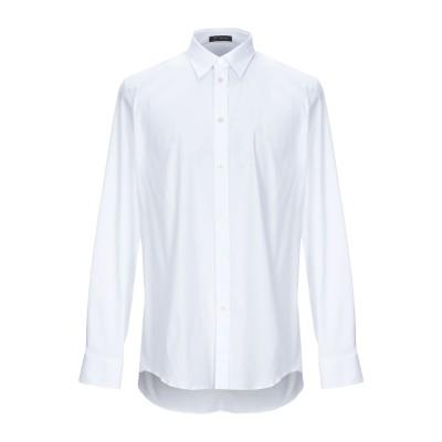 VERSACE シャツ ホワイト 44 コットン 97% / ポリウレタン 3% シャツ