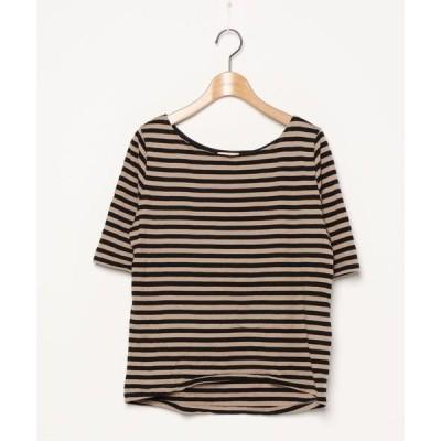 tシャツ Tシャツ ボーダー柄半袖Tシャツ
