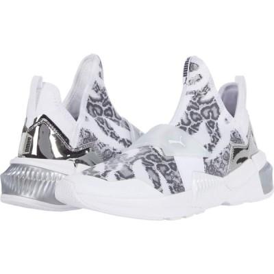 プーマ PUMA レディース スニーカー シューズ・靴 Provoke XT Mid UNTMD Puma White/Metallic Silver