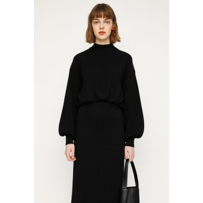 CROPPED HN PUFF SLEEVE トップス BLK