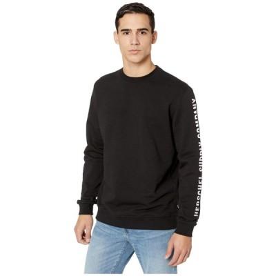 ハーシェル サプライ Herschel Supply Co. メンズ スウェット・トレーナー トップス Crew Neck Sleeve Print Black/White