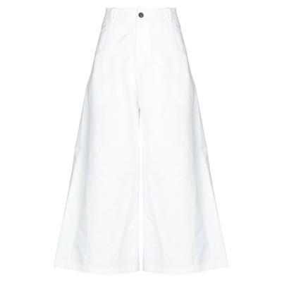 ソシエテ・アノニム SOCIÉTÉ ANONYME パンツ ホワイト 40 コットン 60% / リネン 40% パンツ