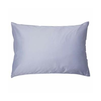 枕カバー ( 43x63cm枕用 ロイヤルブルー) 日本製 コットン100% 高級サテン 超長綿 80番手 330本高密度生地 ダ
