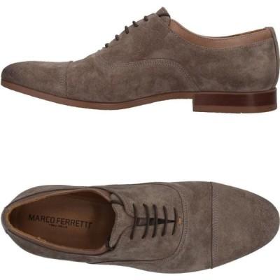 マルコ フェレッティ MARCO FERRETTI メンズ シューズ・靴 laced shoes Dove grey