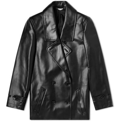 コム デ ギャルソン Comme des Garcons Homme Plus メンズ コート アウター PVC Peacoat Black